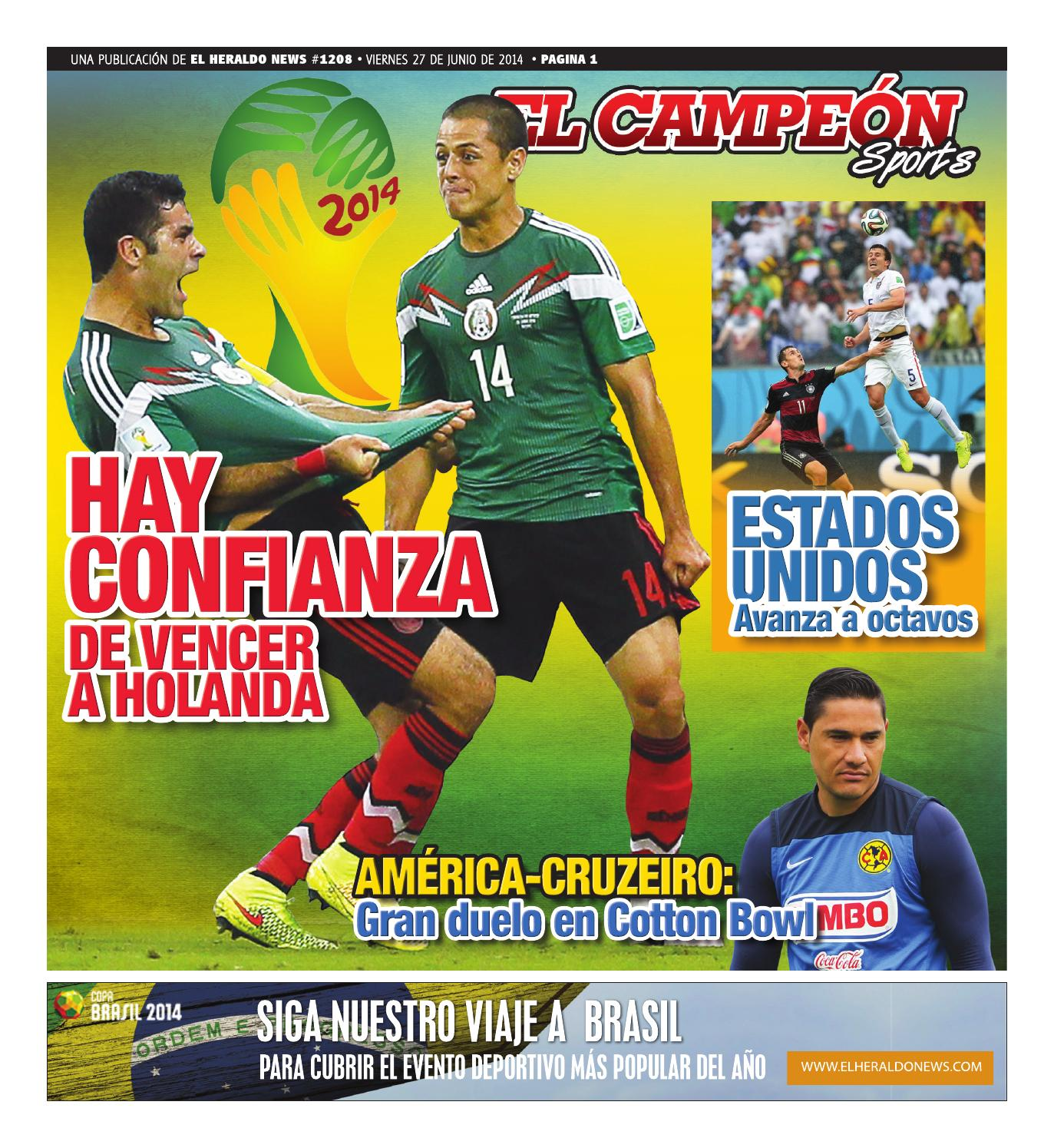 a0320290c9bca Elcampeon jun27 2014 by El Heraldo News - issuu