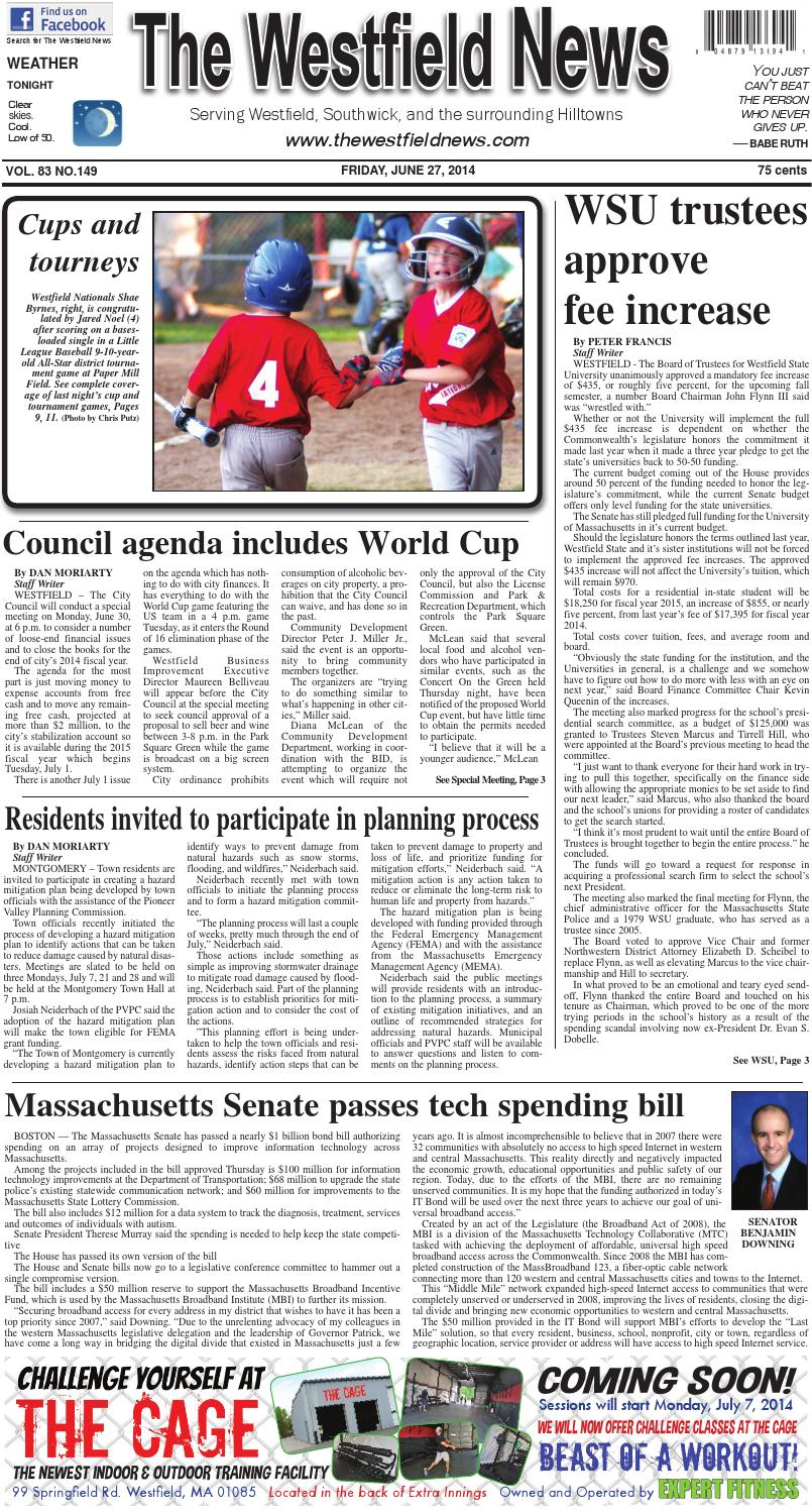 Friday, June 27, 2014 by The Westfield News - issuu