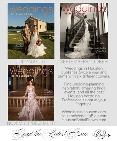 Weddings In Houston July December 2014 By Weddings In Houston Issuu