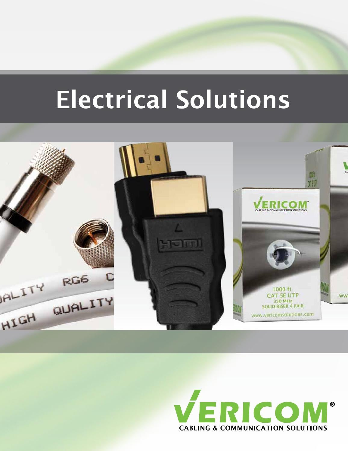 Vericom Global Solutions Electrical Catalog By Cables Cat5e Gray Ethernet Patch Cable Snagless Molded Boot 75 Foot Issuu