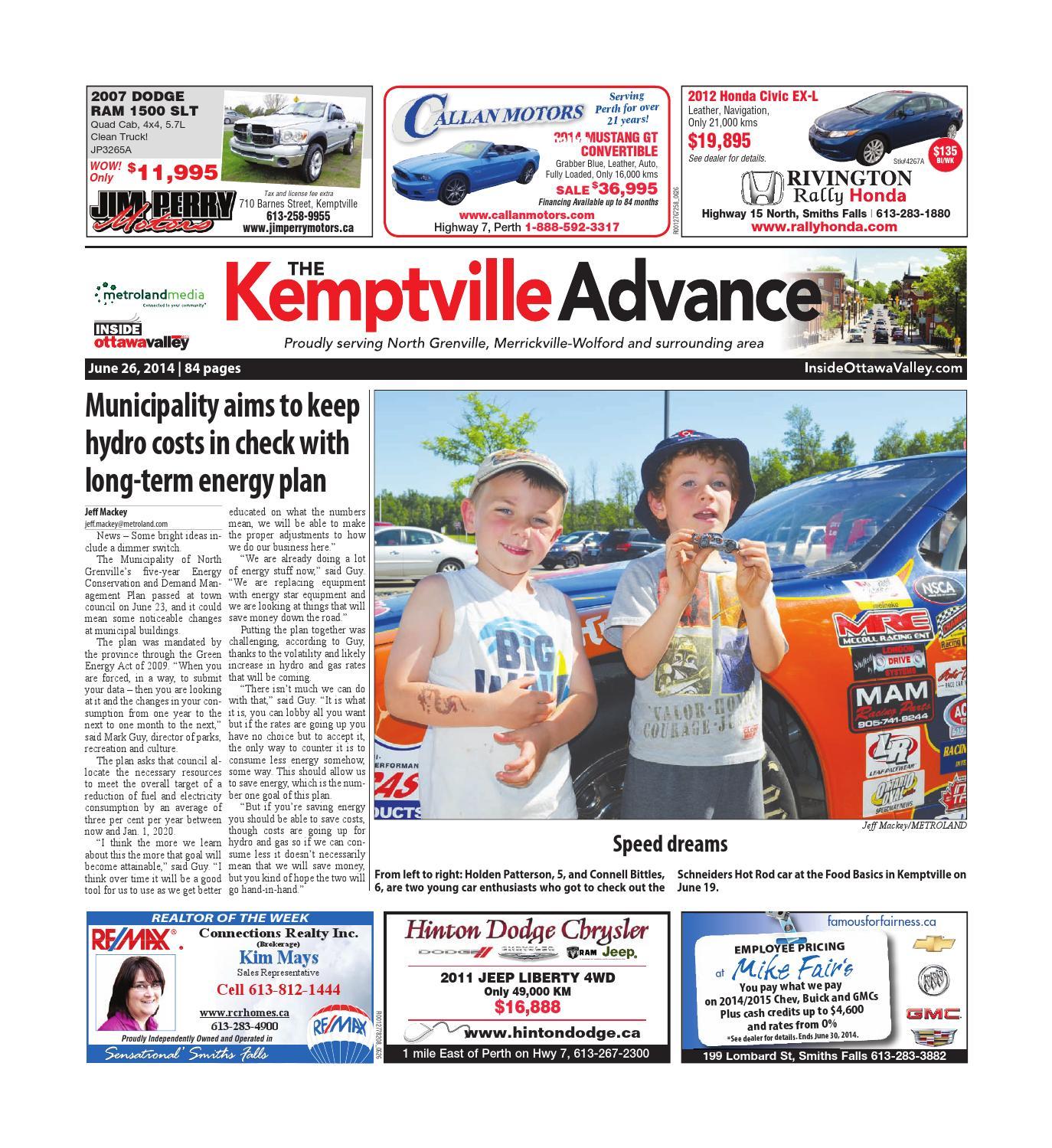 Kemptville062614 By Metroland East Kemptville Advance Issuu Rock You Popeye G7 Strap Gitar Dan Bass