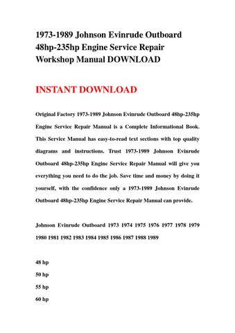 1973 1989 johnson evinrude outboard 48hp 235hp engine service repair 1947 evinrude outboard motor schematics 1973 1989 johnson evinrude outboard 48hp 235hp engine service repair workshop manual download