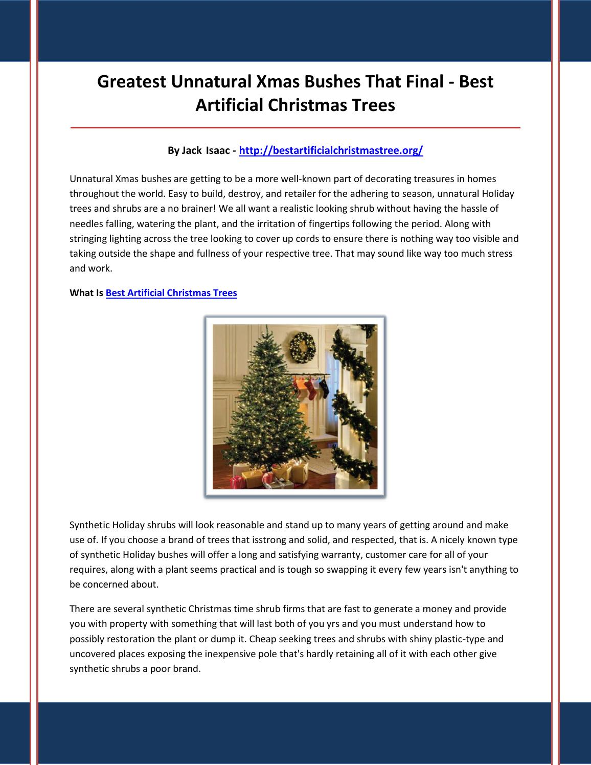 2 best artificial christmas trees by assfsss - issuu