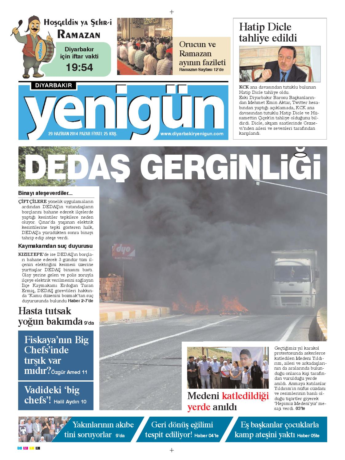 Diyarbakir Yenigun Gazetesi 29 Haziran 2014 By Osman Ergun Issuu