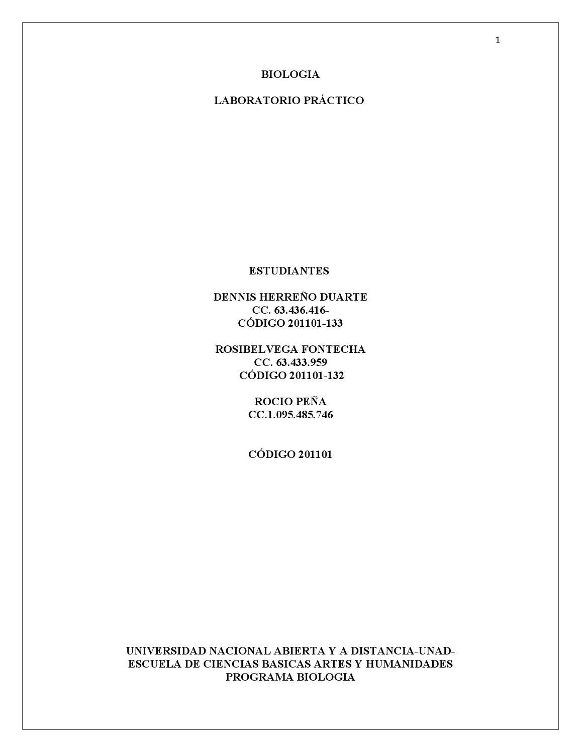 Trabajo de laboratorio biologia 2 3 4 by Angela Maria Fernandez - issuu