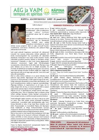 bcc85ed6cf4 Räpina Aianduskooli ajaleht, juuni 2014 by Ulvi Mustmaa - issuu