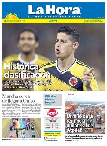 Diario la hora zamora 29 de junio 2014 by Diario La Hora Ecuador - issuu b3ae850c29a26