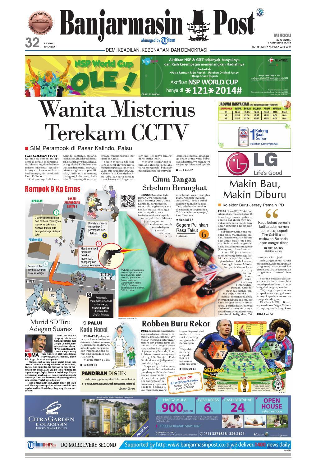 Banjarmasin Post Minggu 29 Juni 2014 By Issuu Produk Ukm Bumn Dress Gamis Batik Motif Ayam Bekisar