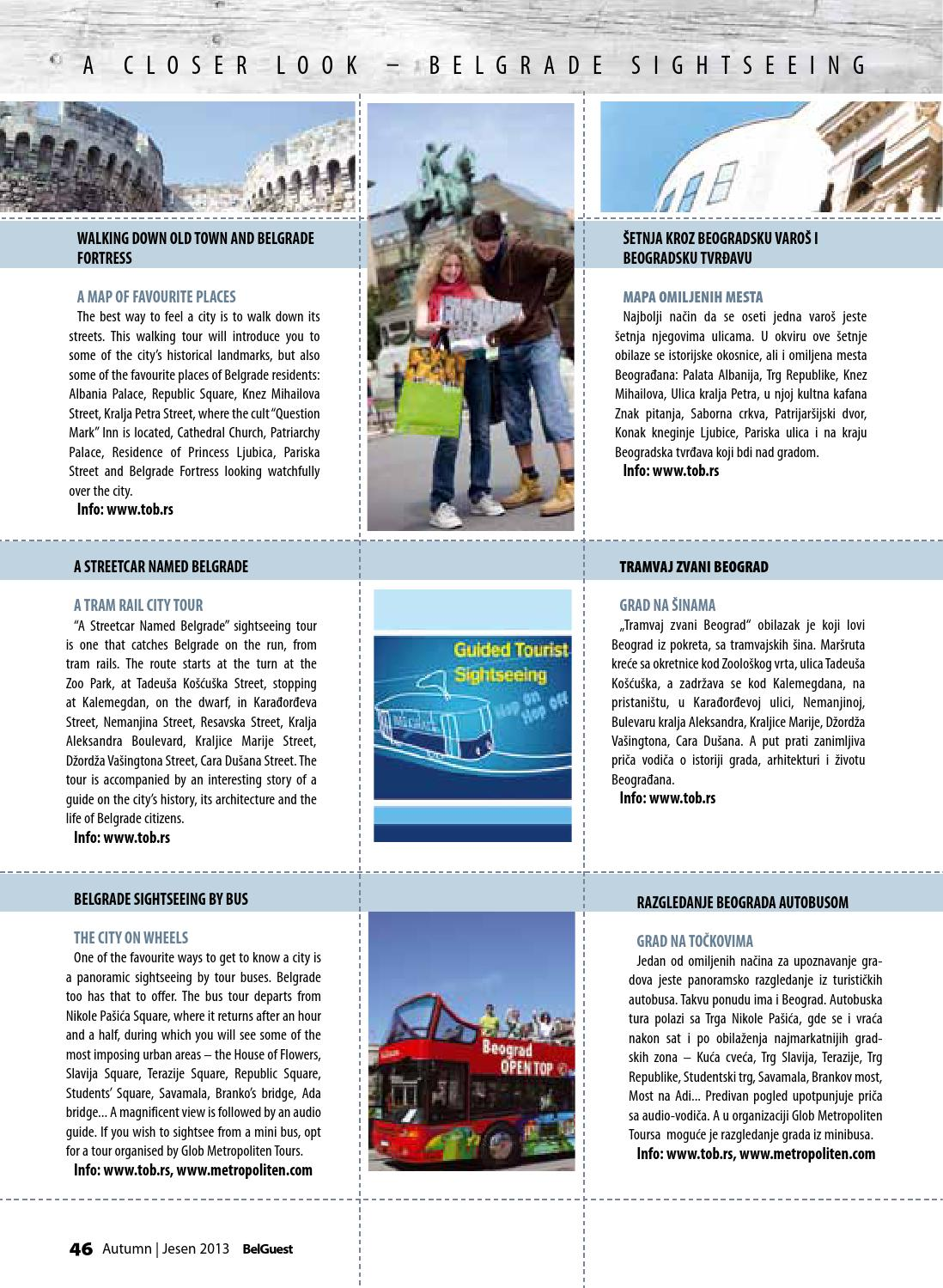 Belguest Belgrade And Serbia Visitors Magazine Autumn 2013 By