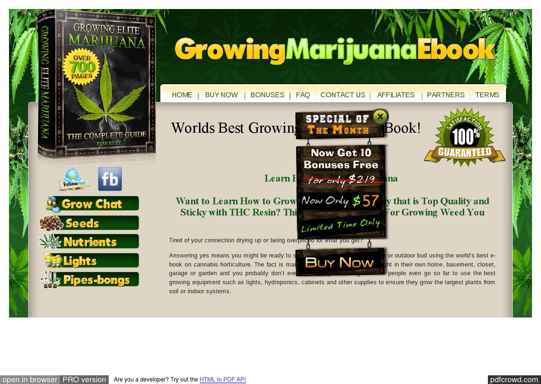 Growing Elite Marijuana Pdf