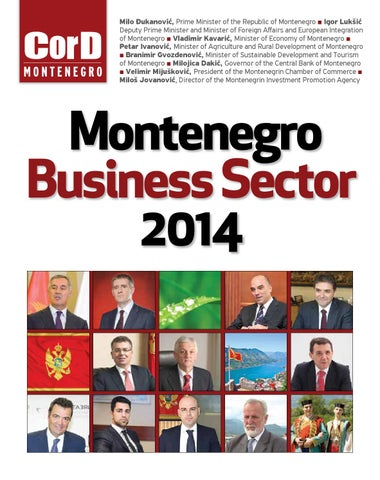 MONTENEGRO BUSINESS SECTOR 2014 by CorD Magazine - issuu