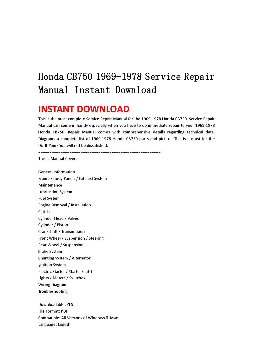 Page on 1978 Honda Cb750 Wiring Diagram