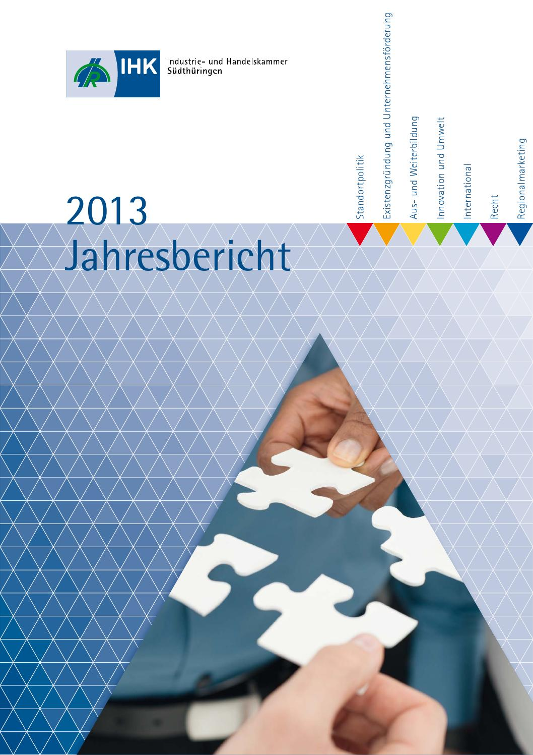 Jahresbericht 2013 by IHK Südthüringen - issuu