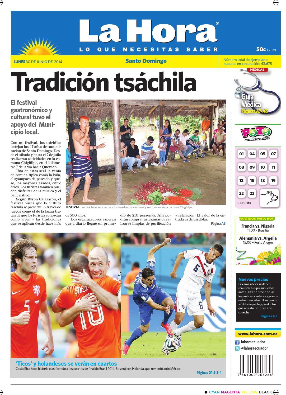 Santo Domingo 30 junio 2014 by Diario La Hora Ecuador - issuu f583d8d5217e6