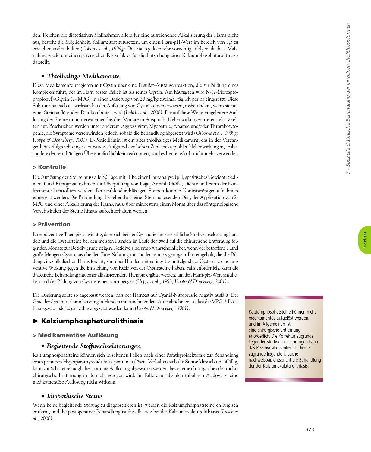 Diät zur Vermeidung von Nierensteinen Calciumoxalat