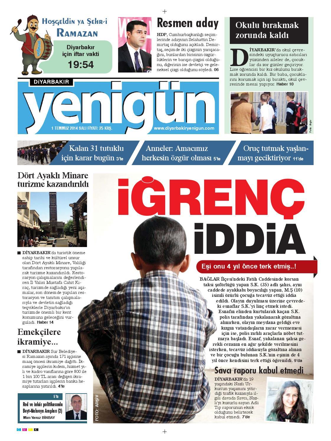 Diyarbakir Yenigun Gazetesi 1temmuz 2014 By Osman Ergun Issuu