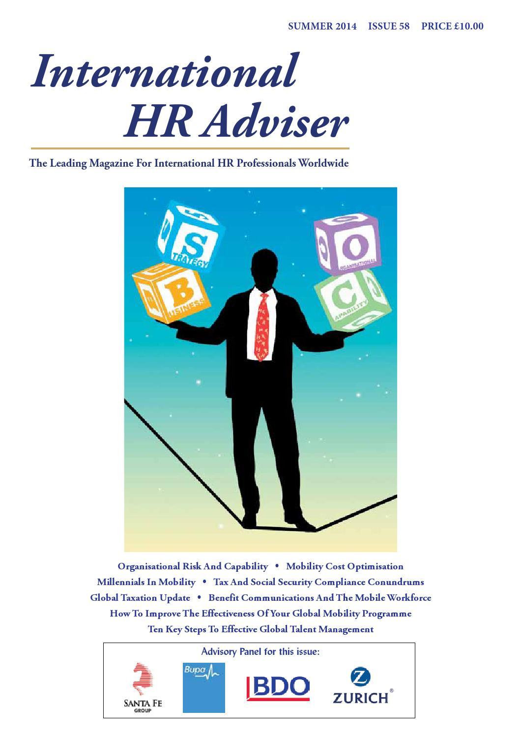 International HR Adviser Summer 2014 by International HR Adviser - issuu