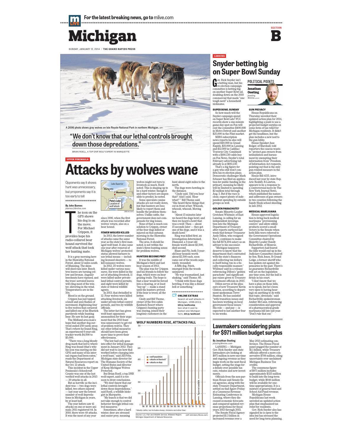 Grand Rapids Press - Jan  12, 2014 - Section B by Grand