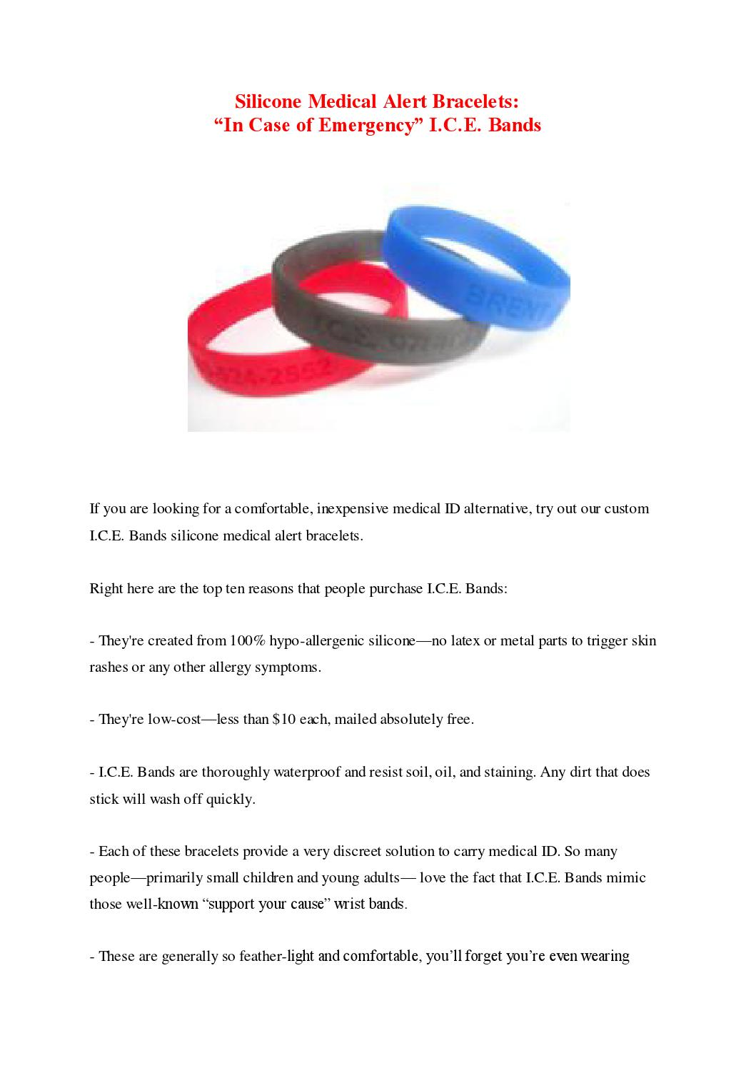 Silicone Medical Alert Bracelets by Sabri Saboura - issuu