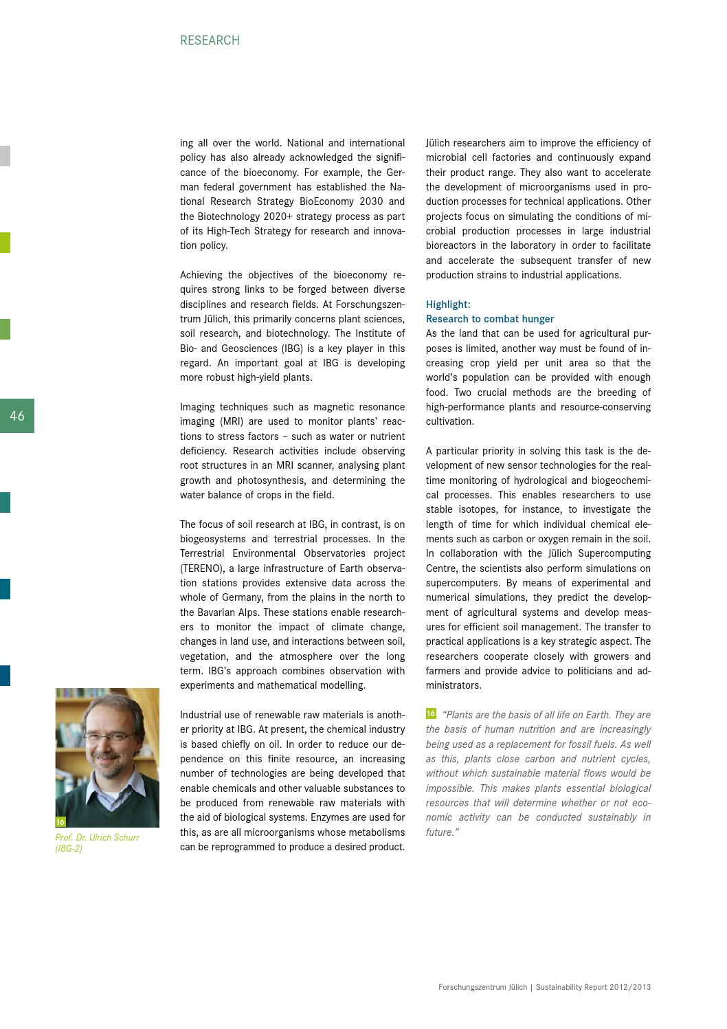 Sustainability Report 2012/2013 by Forschungszentrum Jülich - issuu