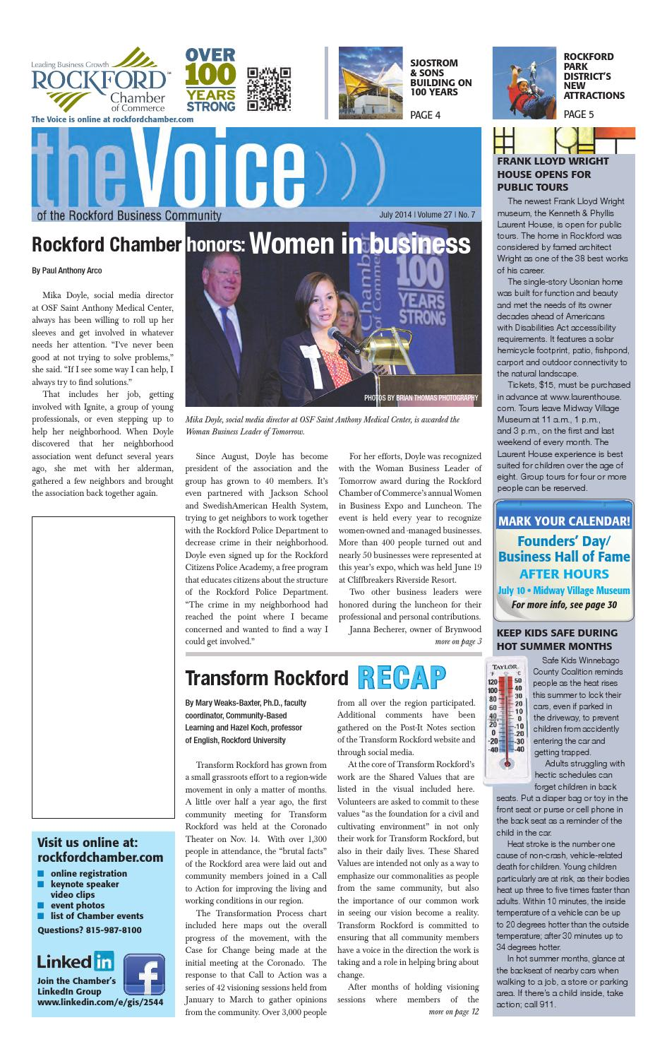 July Voice 2014 by Rockford Chamber of Commerce - issuu