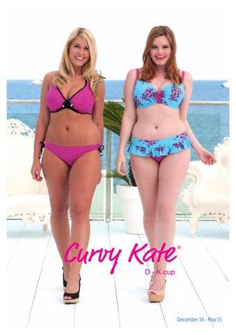 Curvy Kate Moonflower Ruffle Tie Side Bikini Brief Bottoms CS2515 Black//Floral