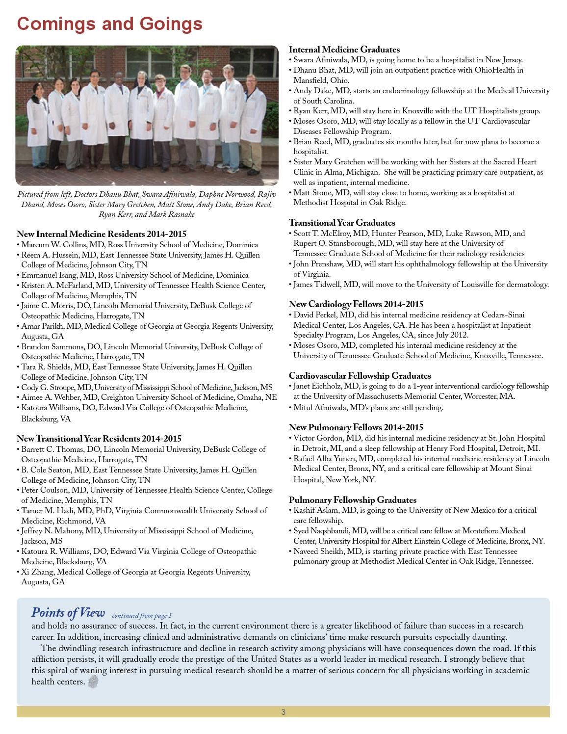In Touch Newsletter - July 2014 by Univ  of TN Graduate