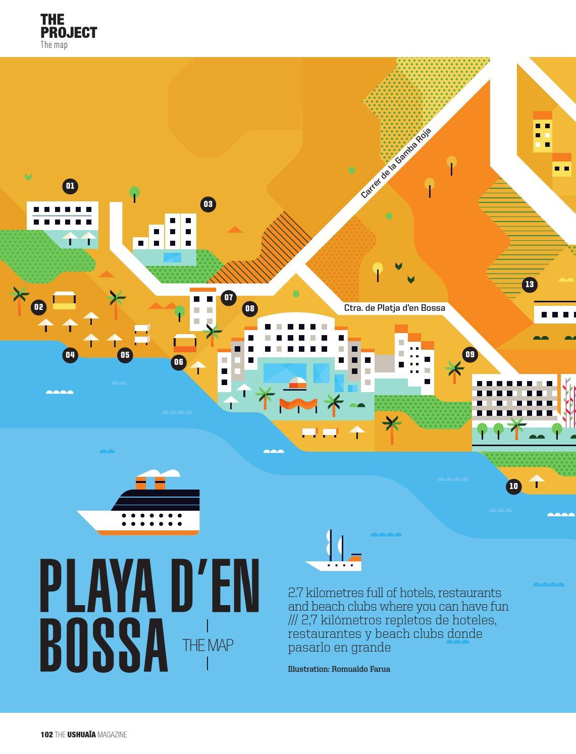 Playa D En Bossa Mapa.The Iu Mag N2 By Ushuaia Ibiza By Palladium Hotel Group Issuu