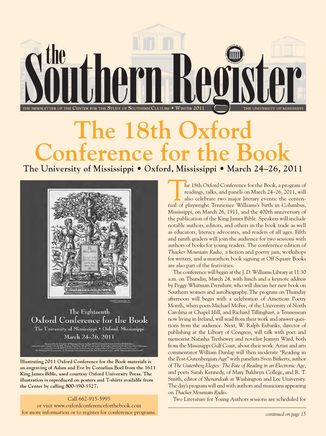 Southern Register Winter 2011 by Southern Studies - issuu