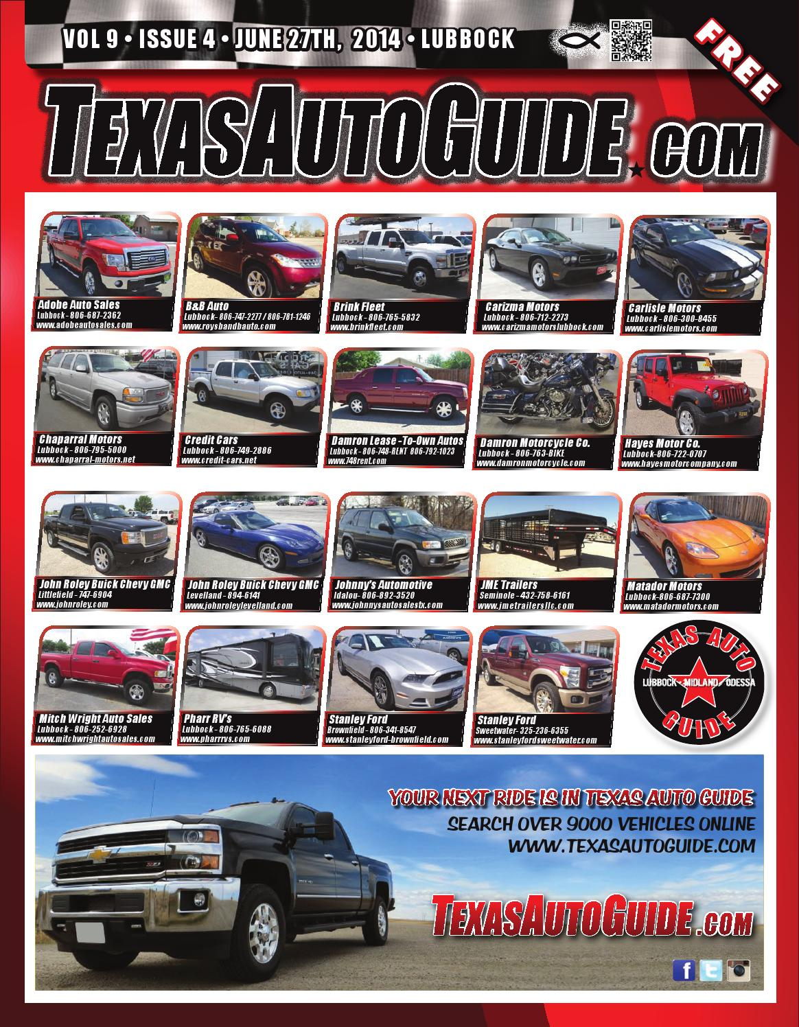 Texas auto guide lubbock june 27th 2014 by texas auto for Carizma motors lubbock tx