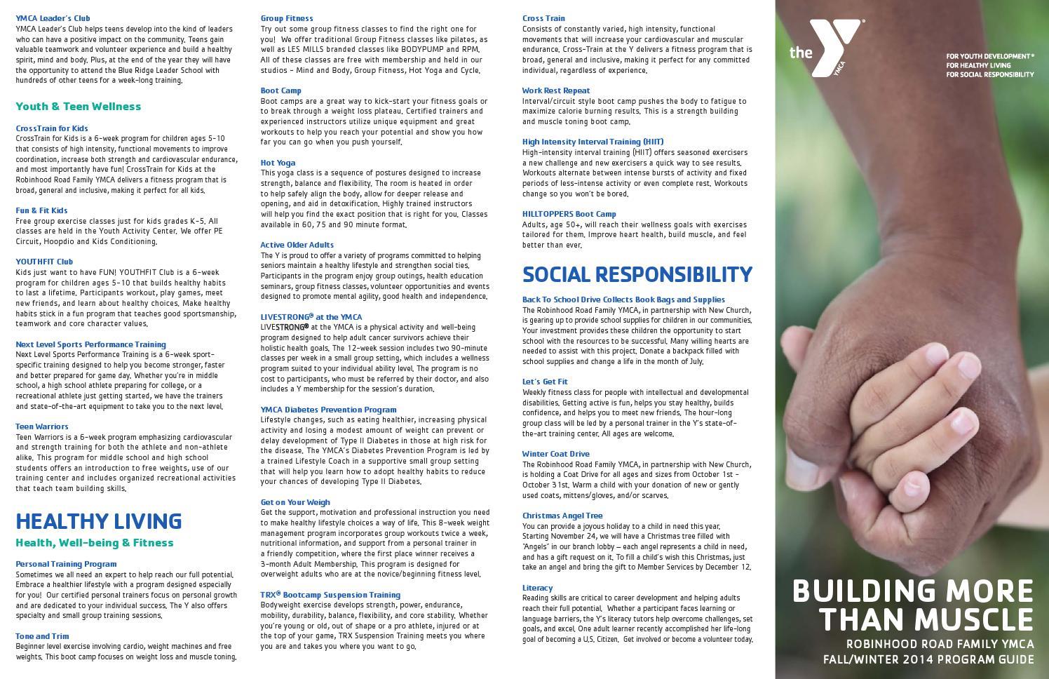 Robinhood Y Fall Winter 2014 Program Guide By Ymcanwnc Issuu