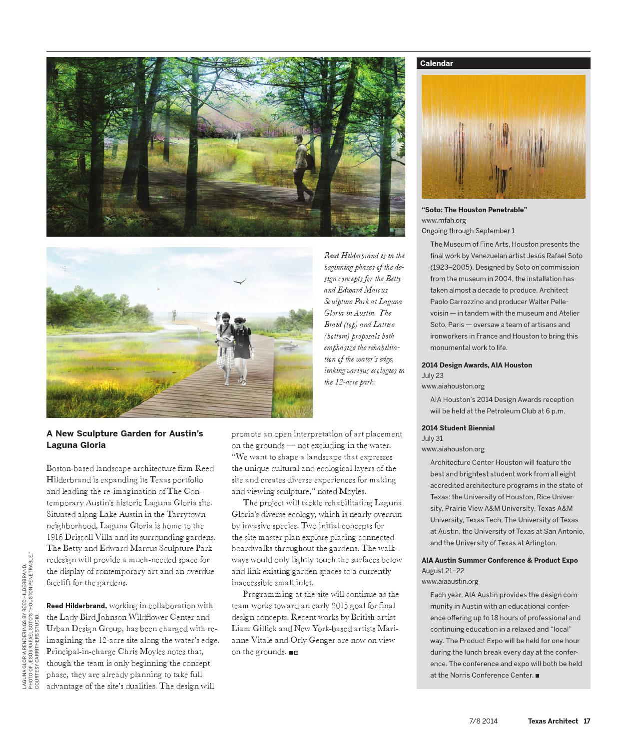 Texas Architect July August 2014 Art Architecture By Texas Society Of Architects Issuu