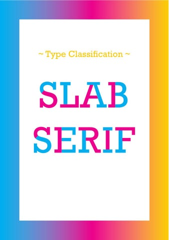 Slab Serif Book by Ágata Cabral - issuu