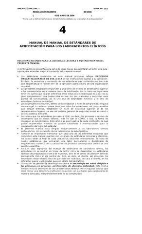 manual de acreditacion para laboratorio clinico