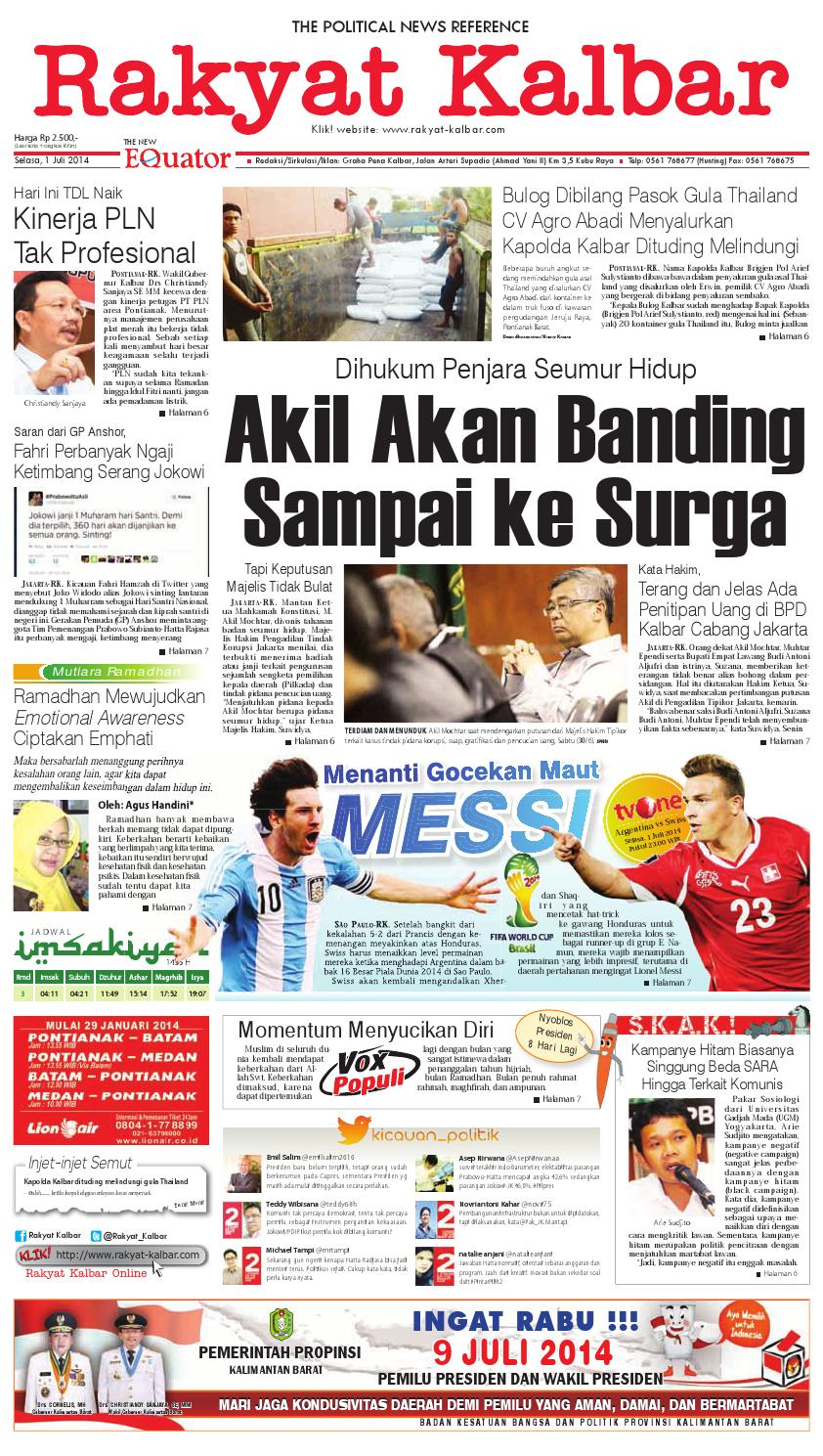 1 Juli 2014 By Harian Rakyat Kalbar Issuu