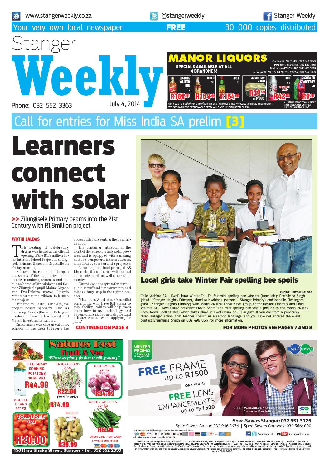 Stanger weekly 2 jul 2014 by Stanger Weekly - issuu