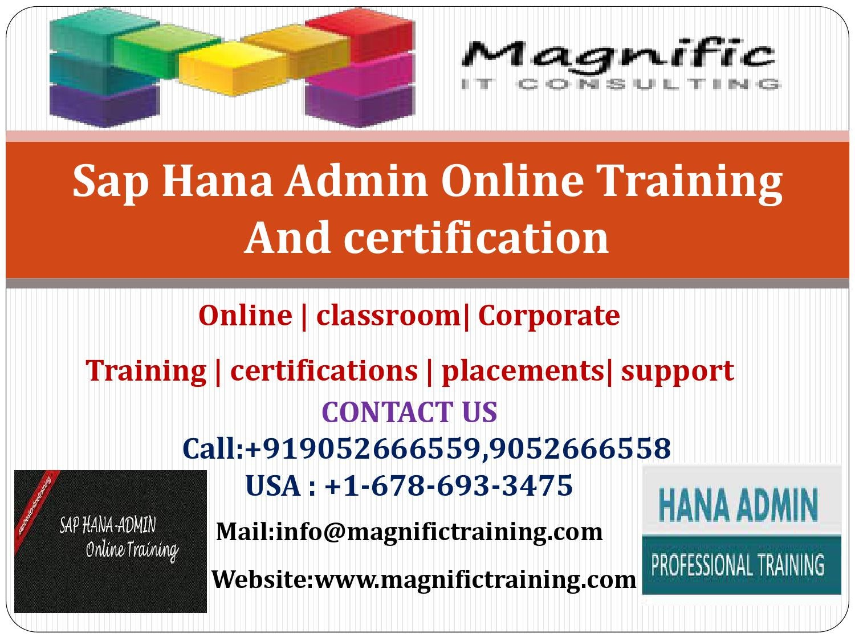 sap training hana tutorial course certification