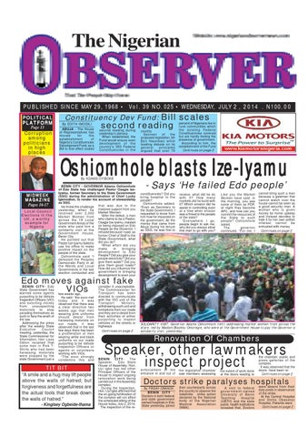 Nigerian observer 02 07 2014 by Nigerian Observer - issuu
