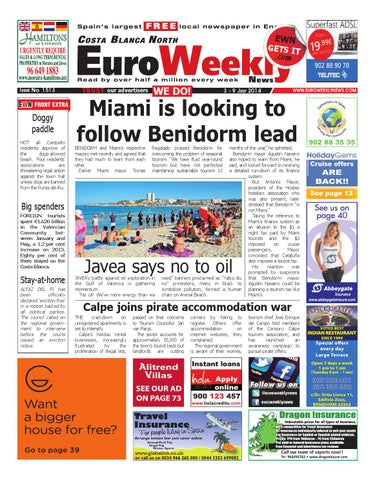 Euro Weekly News Costa Blanca North 3 9 July 2014 Issue 1513