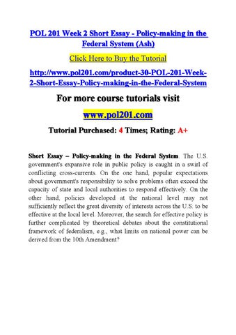 essay policy making Essay on policy process theories the stages-heuristic theory is one of the highly influential frameworks for the study of the policy process, which was developed in.