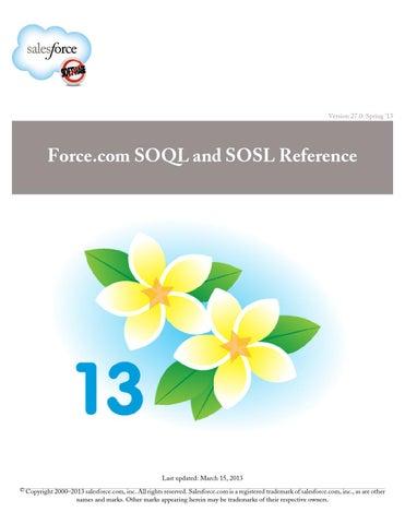 Salesforce soql sosl by Dainik Manyawar - issuu