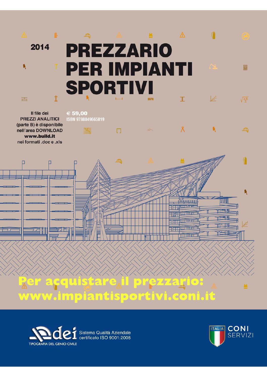 Prezzario Impianti Sportivi By Dei Tipografia Del Genio