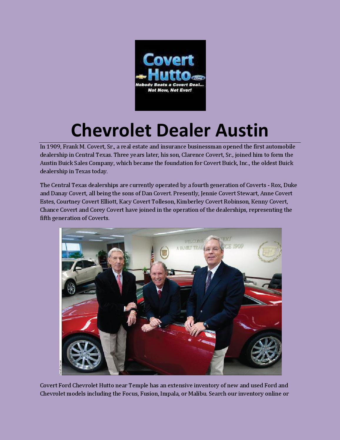Chevrolet Dealer Austin By Coverthutto Issuu