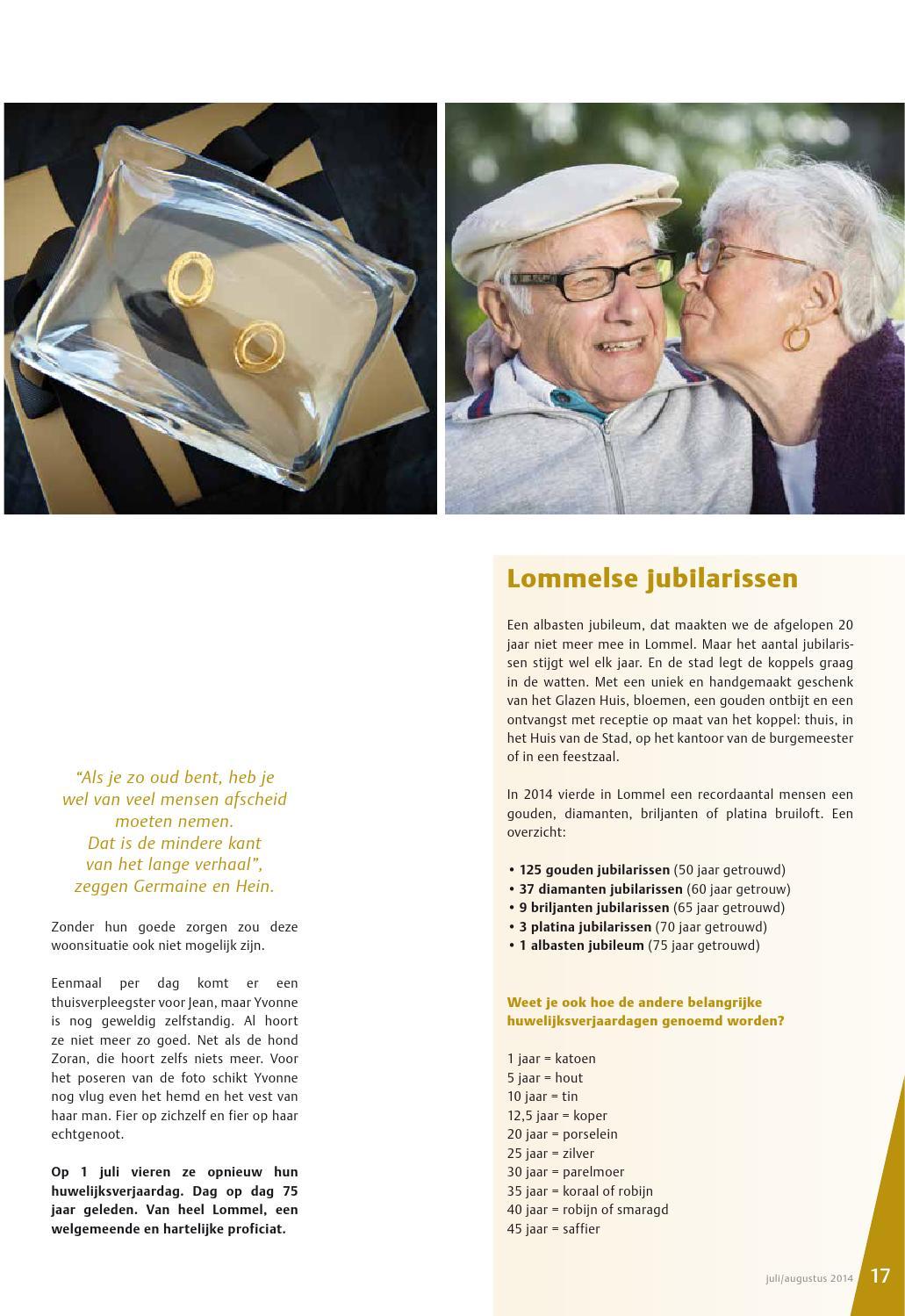 75 jaar getrouwd platina Info lommel juli 2014 by Stad Lommel   issuu 75 jaar getrouwd platina
