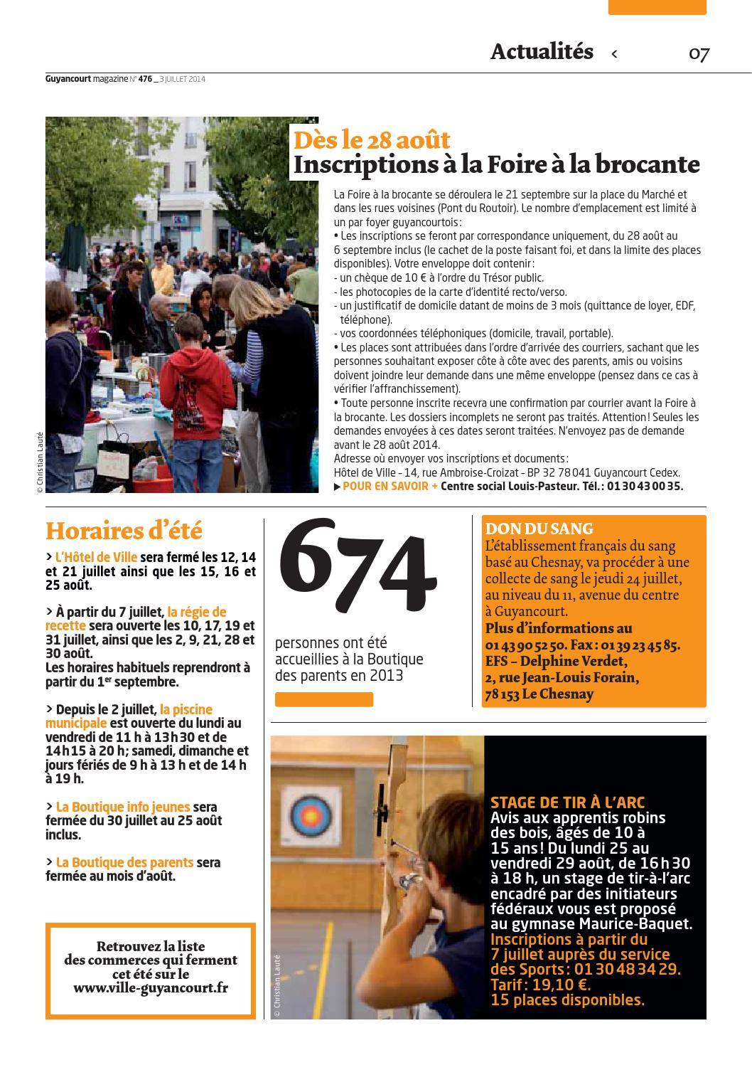 Guyancourt magazine 476 by Ville de Guyancourt - issuu 8997f713e70