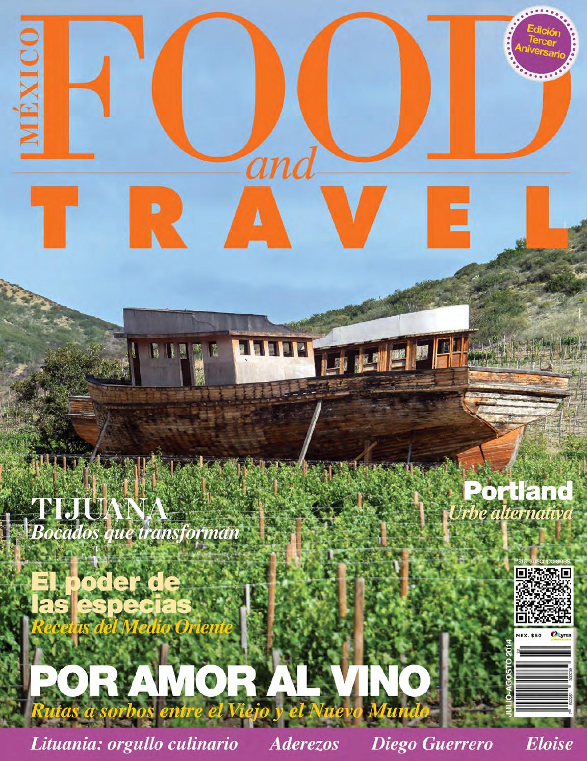 issuu agosto Travel Food Julio 2014 by México and tshQdr