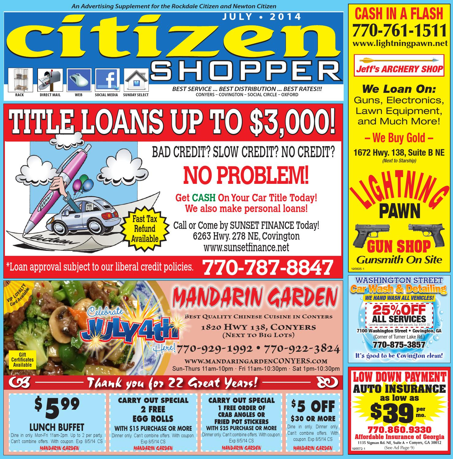 July 2014 Citizen Shopper By The Special Section