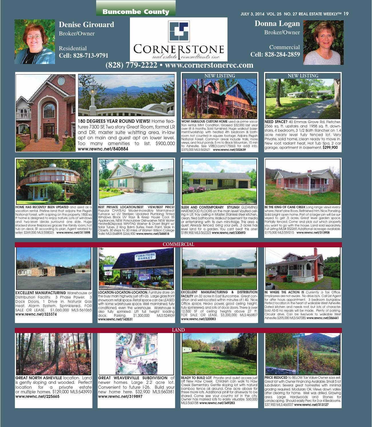 The Real Estate Weekly Vol  25 Issue 27 by WNC Homes & Real Estate