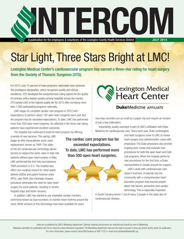 Intercom September 2013 By Lexington Medical Center Issuu