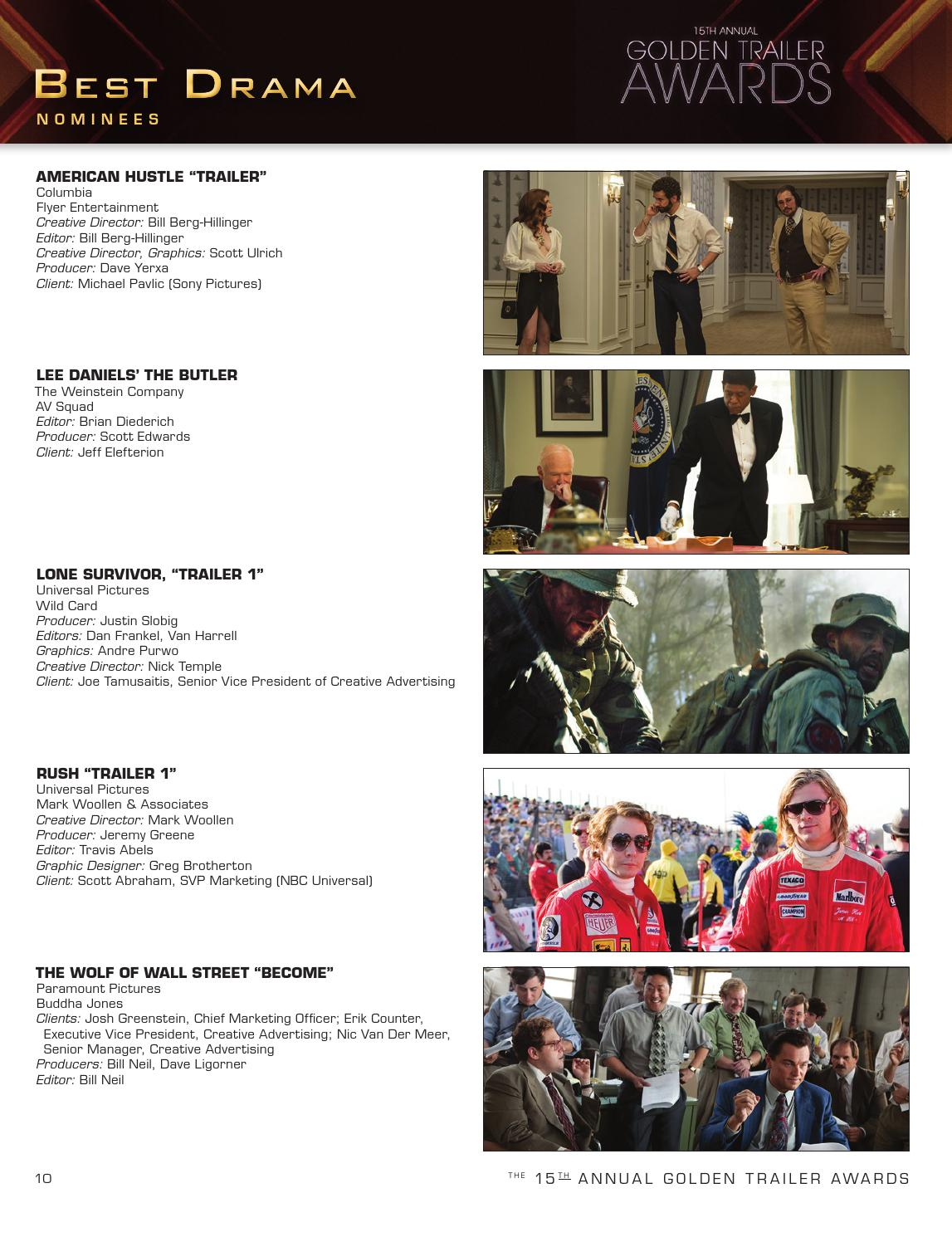 15th Annual Golden Trailer Awards Program Book (2014) by